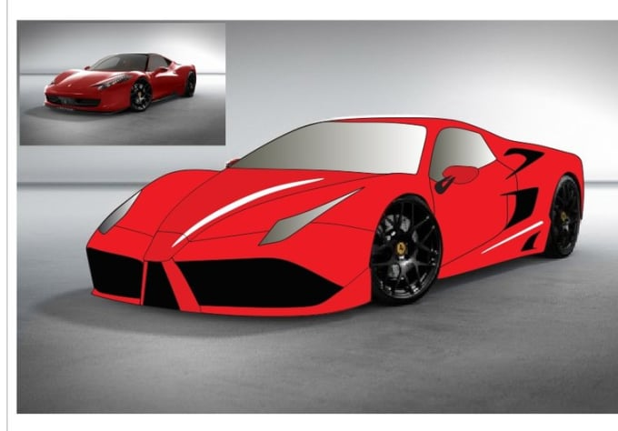 Design your car to use corel draw by Tomspiez