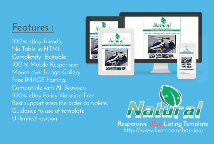 Provide Ebay Listings Template Or Auction Template With Mobile - Ebay product listing template