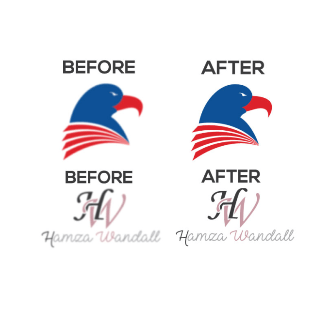 convert your logo into vector files by hamza wandall