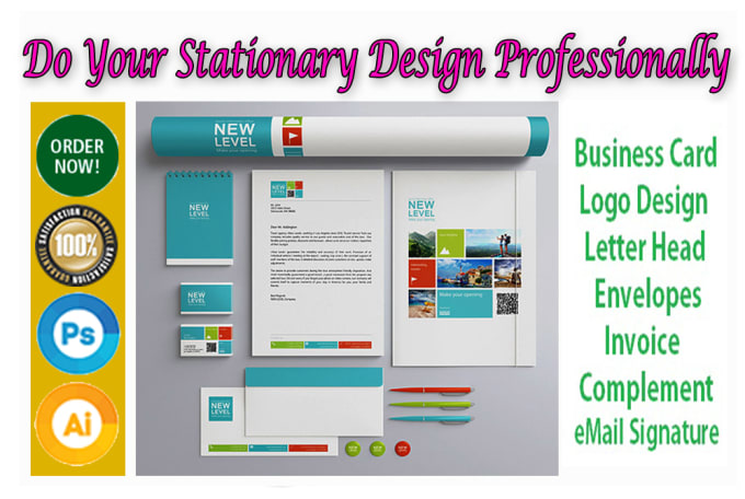 geraldinemrefle : I will design any stationery item for branding for $5 on  www fiverr com