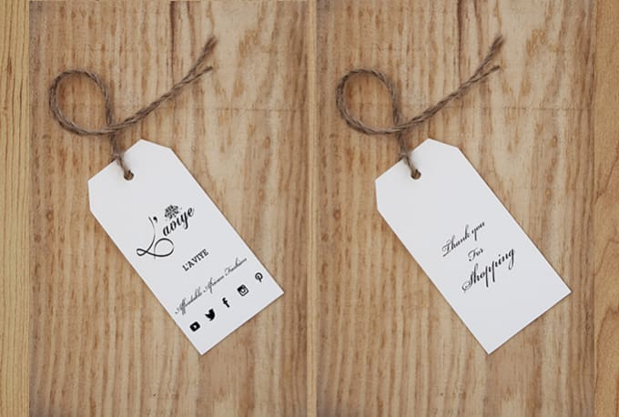 do clothing hang tag and label design within 6hours by lindazaman