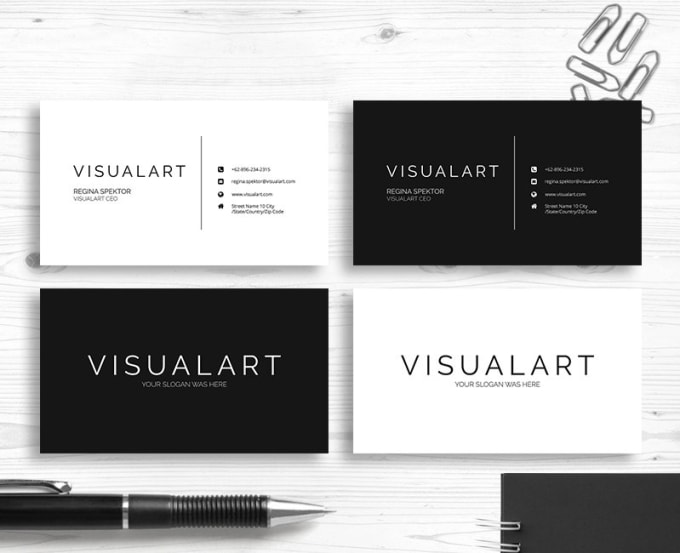 Design minimalist business card fiverr design minimalist business card reheart Choice Image