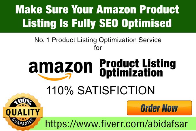 amazon product listing optimization