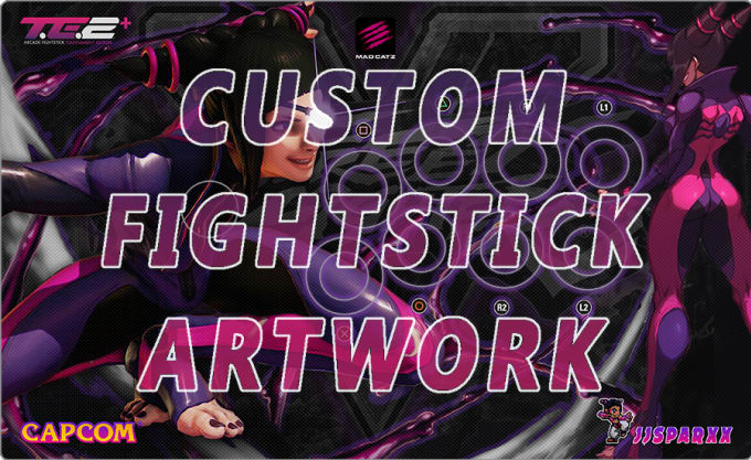design custom artwork for your fightstick or arcade stick by jamiesparks