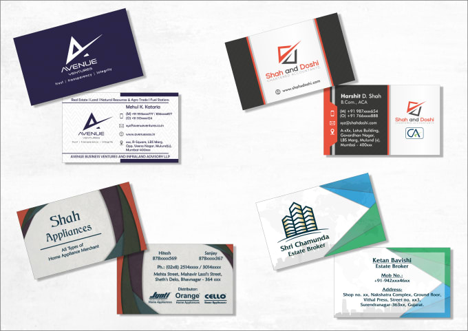 Design A Stunning And Professional Business Card By Meetshah18
