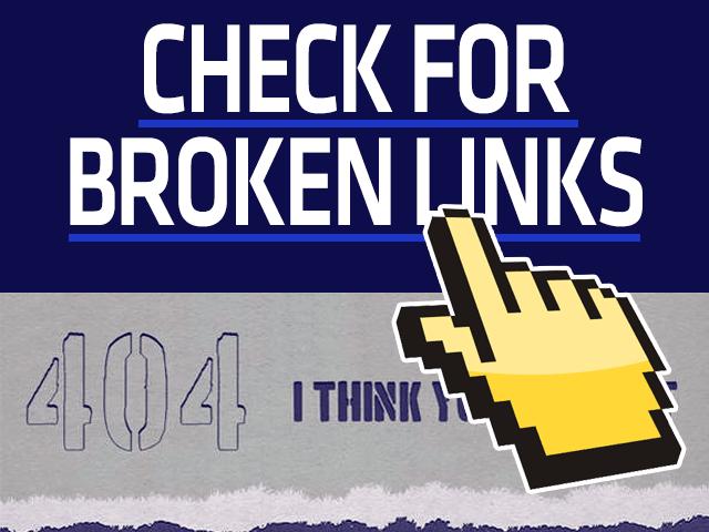 Scan For Broken Links