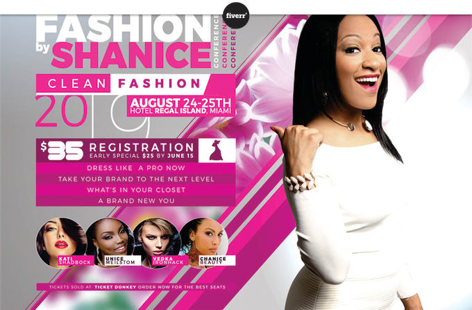 design a unique flyer for your fashion show and women event