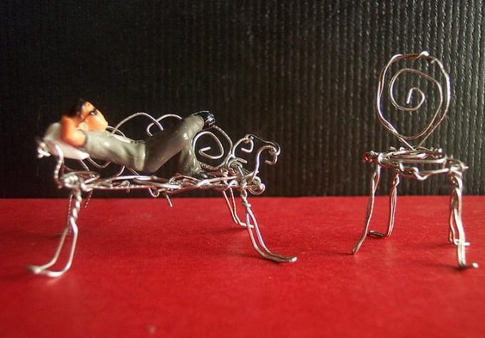 make a miniature furniture piece for you out of paperclips