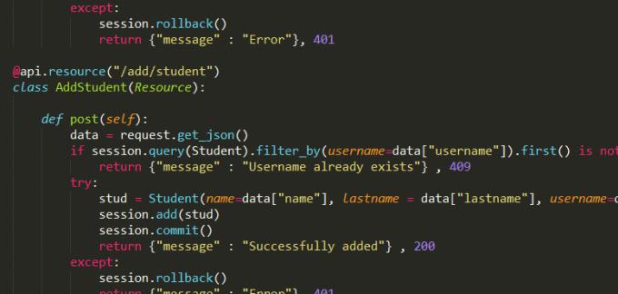 create restful API in django or flask