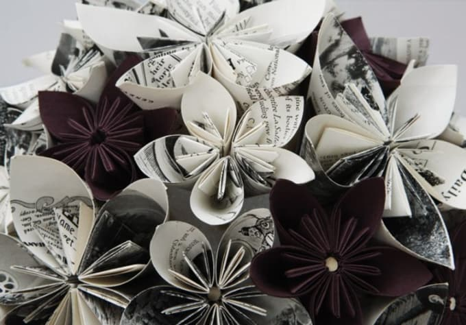 I will make a newspaper flower