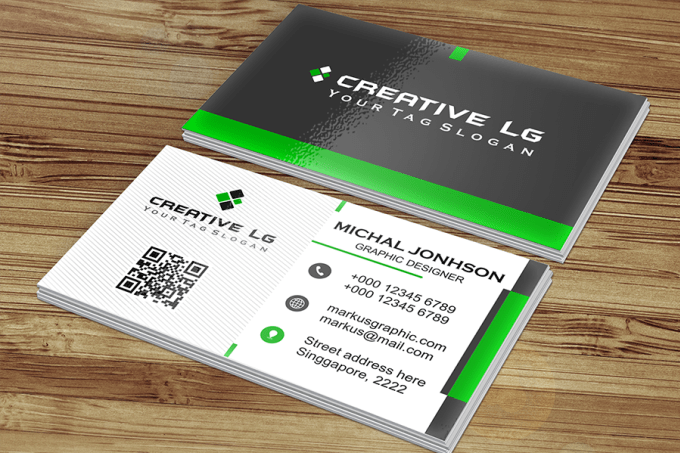 Design Stylish Double Sided Business Card With Qr Code Within 48