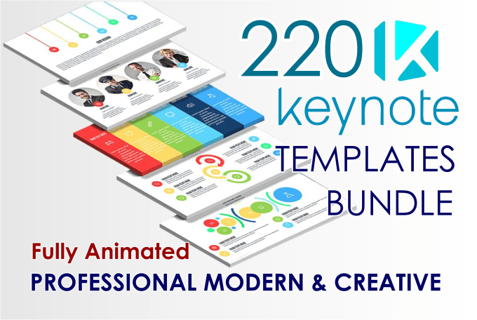 Give 220 keynote presentation templates bundle by Devinda10