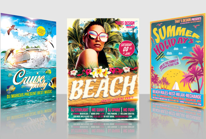 design summer party flyers in 24 hours by raheel362