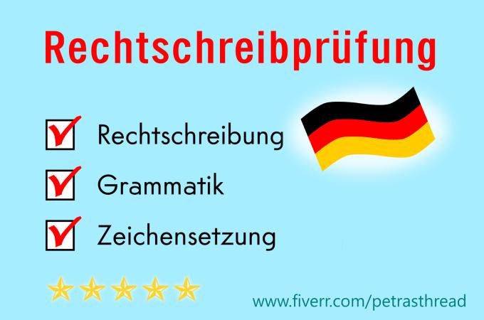 Deutsche Texte Auf Rechtschreibung Prüfen Und Korrigieren By