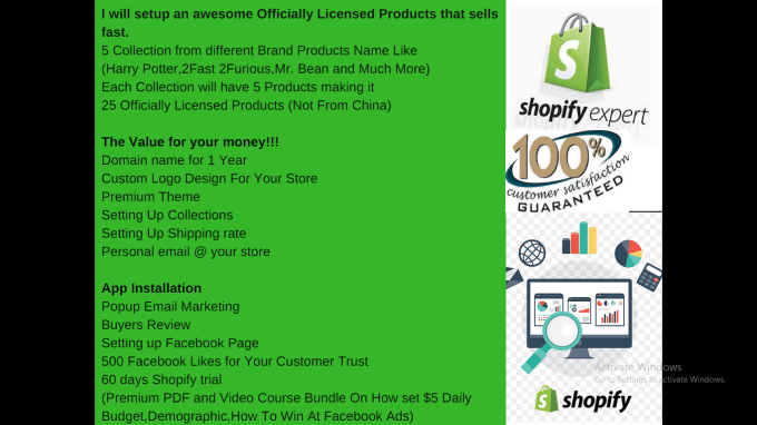 create a dropshipping Shopify Store and Upload Products