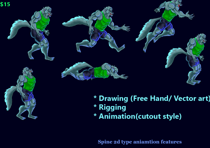 make 2d character or sprite animation for your Game