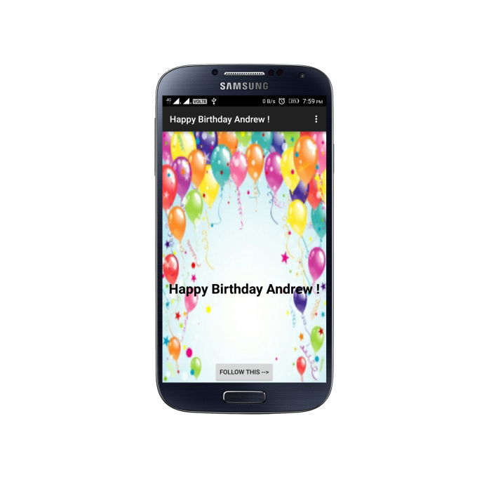 happy birthday app for android phone