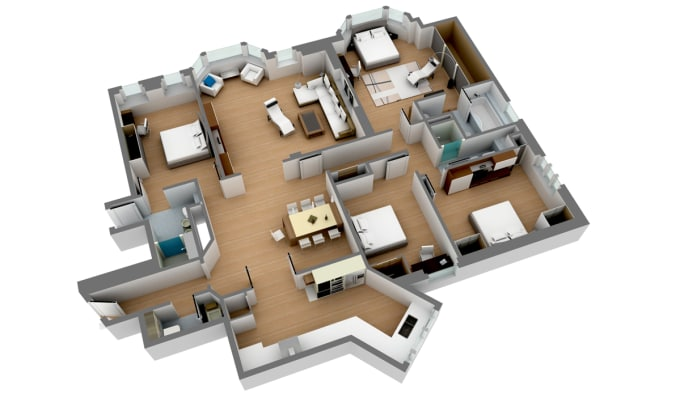 convert your floor plan to a 3d model on sketchup by autodes