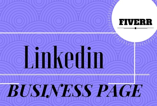 created the linkedin business page