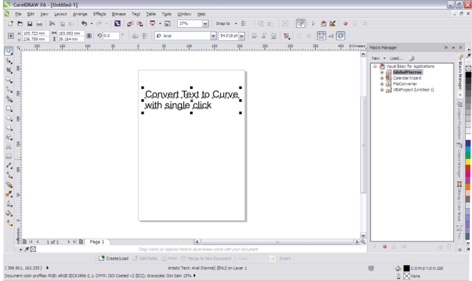 kashyapparekh : I will develop macro for corel draw for convert text to  curve for $20 on www fiverr com