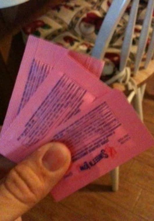teach you a magic trick where you make a prediction with sugar packets