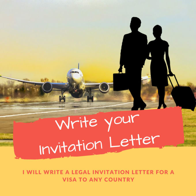 draft a legal invitation letter for a visa to any country
