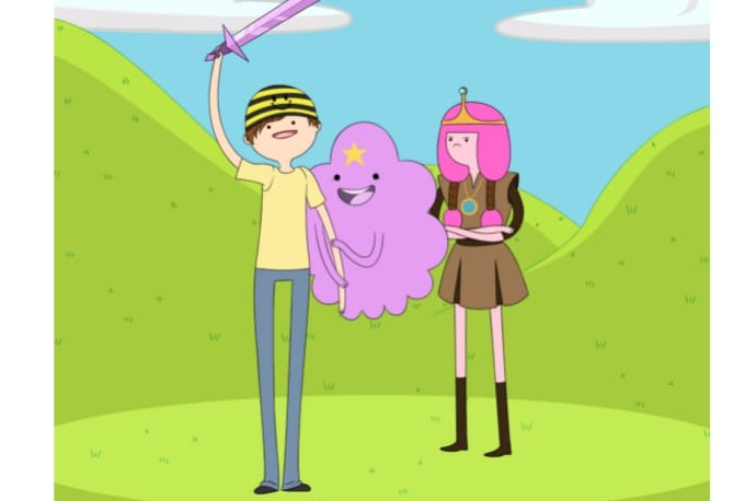 Draw you in the adventure time style