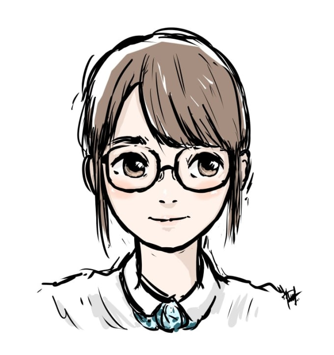 Draw You A Cute Doodle Portrait By Rickyliauw