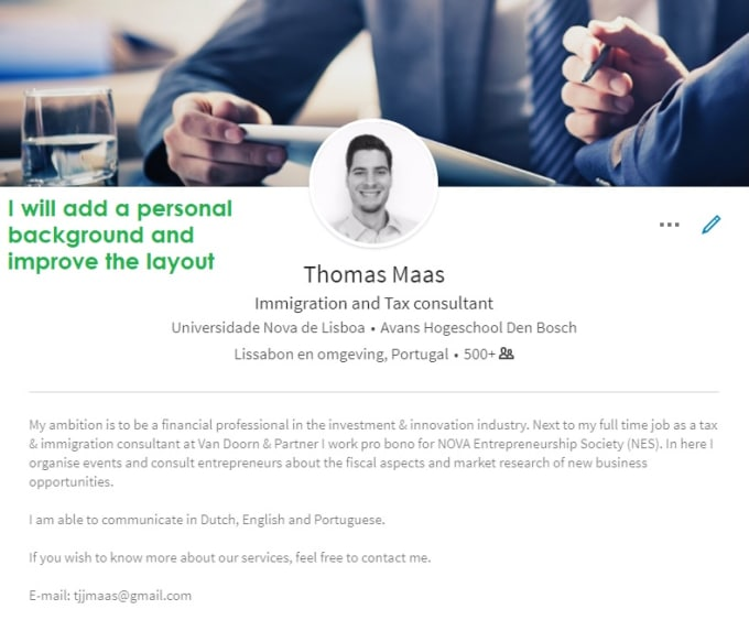 Analyse And Upgrade Your Linkedin Profile By Thomasmaasnlpt