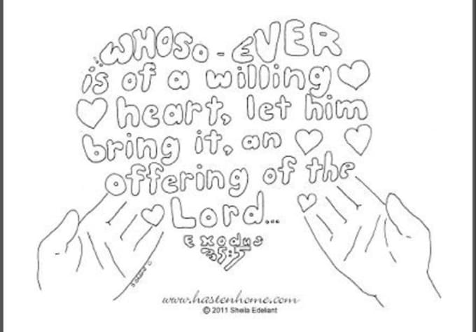 Draw A Custom Coloring Page From A King James Bible Verse And Send