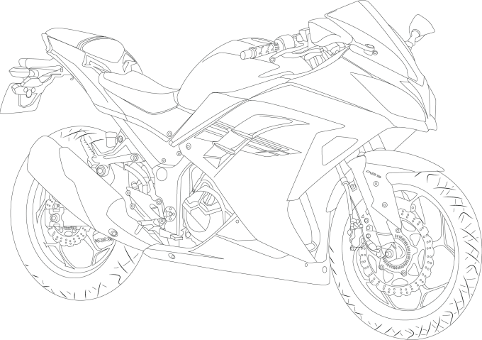 draw a detailed, high quality line art