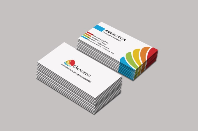 Creative Business Card Design Ready For Print By Amzadcox