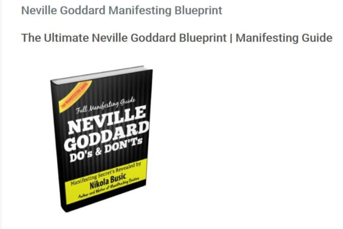 Send you the neville goddard manifesting blueprint by nikolabusic send you the neville goddard manifesting blueprint malvernweather Images