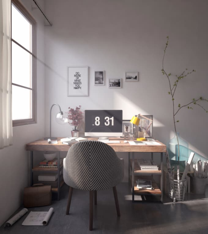 make 3d models,render in vray,visualize in photoshop