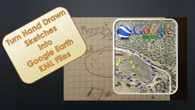 convert hand drawn or scanned maps to google earth files