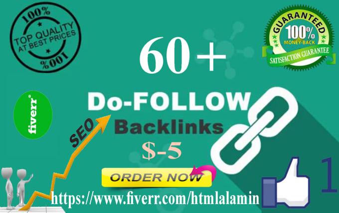 Create 60 do follow backlinks google rankings your website ...