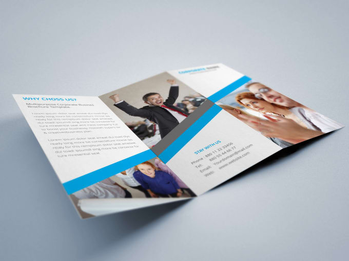 create a professional trifold brochure