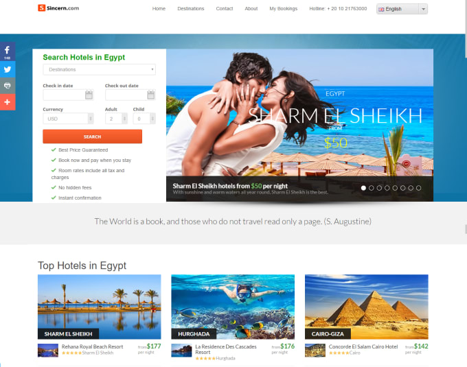 asayed : I will build Multi Hotel Booking System Online Travel Agency  Website for $995 on www fiverr com