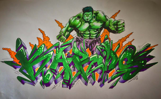 Draw Your Name Or Word In Graffiti