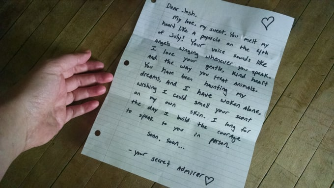 Write a secret admirer letter and mail it to someone by