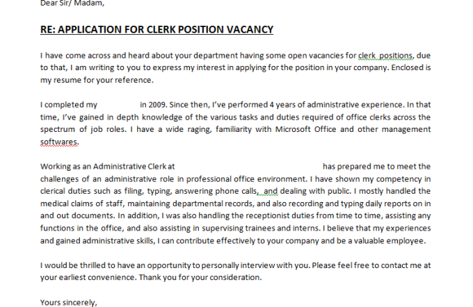 Write Good Job Vacancy Applying Cover Letter