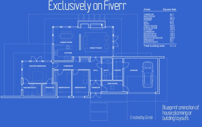 Do blueprint animation of a house planning or building layout by grindi do blueprint animation of a house planning or building layout malvernweather Images