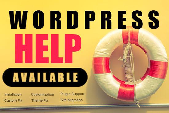 wordpress help