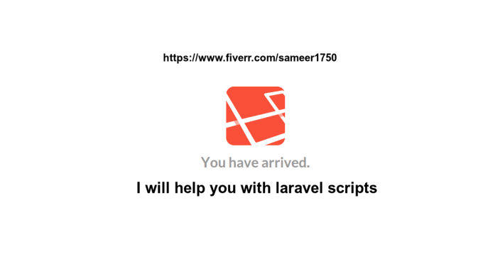 code LARAVEL php script in quick time