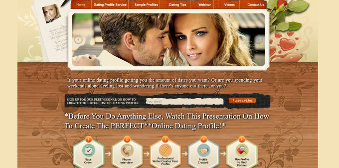 how to create online dating website