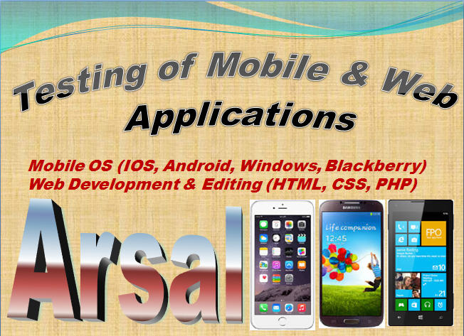 test android, iPhone, Windows, BB and Web Apps