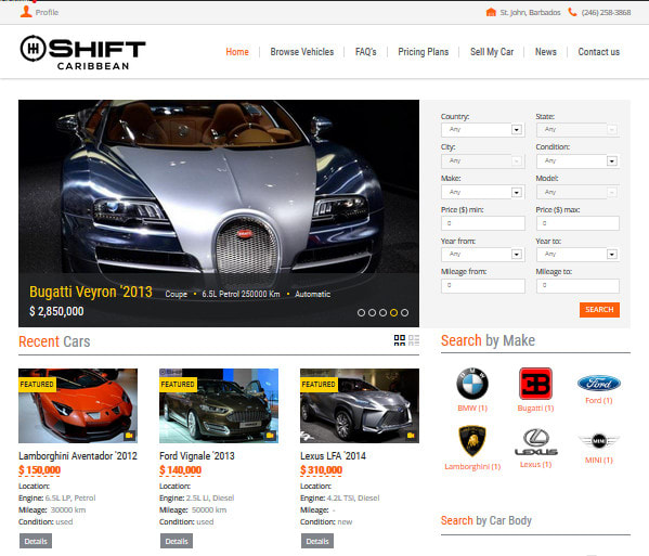 Build Your Car >> Build Your Car Directory Or Car Rental Website In Wordpress