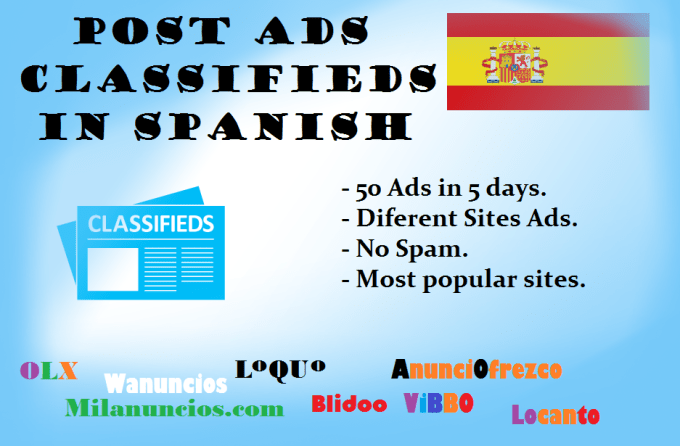 publish Your Ad Classified in Spanish Ad Sites