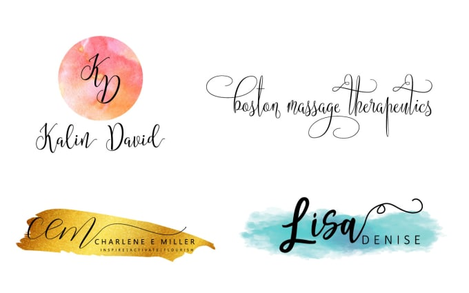 Design Beautiful Watercolor Signature Logo Of Your Name
