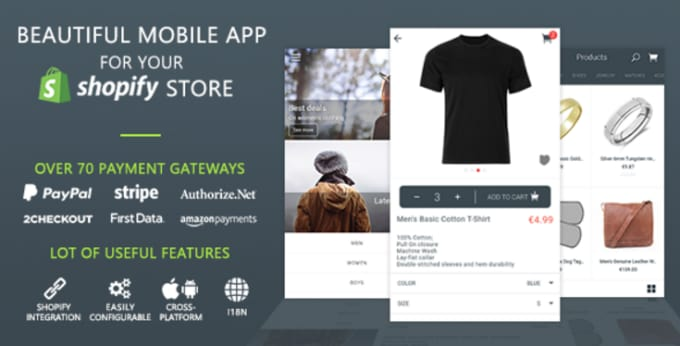 create a beautiful custom mobile app for your shopify store